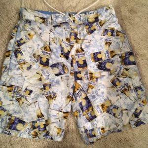 Corona beer mens swimming trunks. Small